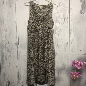 Banana Republic Silk Animal Print Dress Sz 10 EUC
